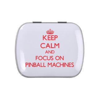 Guarde la calma y el foco en las máquinas de pinba jarrones de caramelos