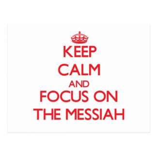 Guarde la calma y el foco en las Mesías Postal