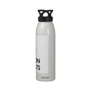Guarde la calma y el foco en las mini faldas botella de agua reutilizable