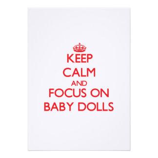 Guarde la calma y el foco en las muñecas del bebé anuncios personalizados
