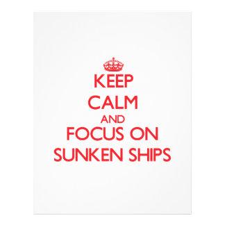 Guarde la calma y el foco en las naves hundidas flyer personalizado