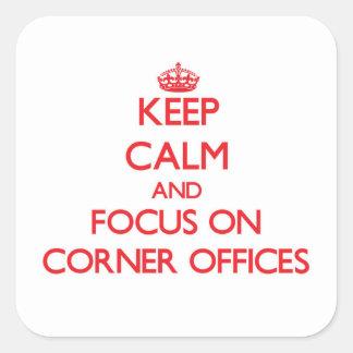 Guarde la calma y el foco en las oficinas de la etiqueta