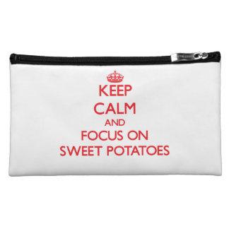 Guarde la calma y el foco en las patatas dulces