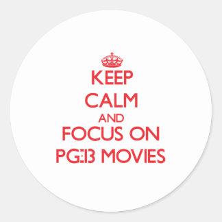 Guarde la calma y el foco en las películas Pg-13