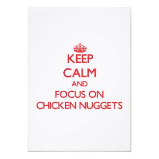 Guarde la calma y el foco en las pepitas de pollo anuncio personalizado