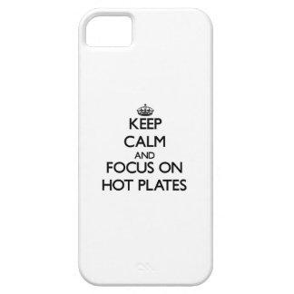 Guarde la calma y el foco en las placas calientes iPhone 5 Case-Mate funda