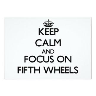 Guarde la calma y el foco en las quintas ruedas comunicados personalizados