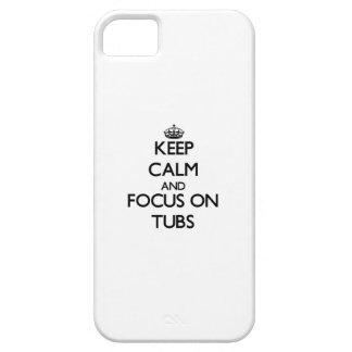 Guarde la calma y el foco en las tinas iPhone 5 Case-Mate cárcasa