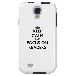 Guarde la calma y el foco en lectores