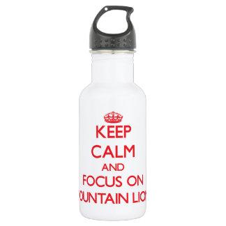 Guarde la calma y el foco en leones de montaña