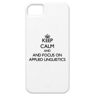 Guarde la calma y el foco en lingüística aplicada iPhone 5 Case-Mate protector