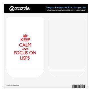 Guarde la calma y el foco en Lisps Skins Para FreeAgent GoFlex