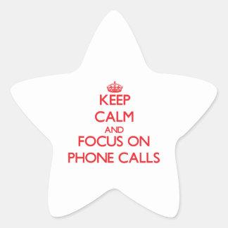Guarde la calma y el foco en llamadas de teléfono