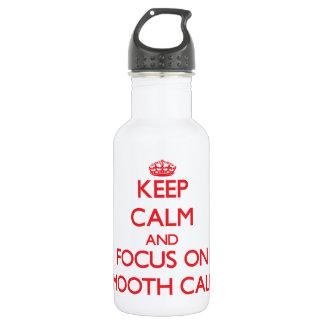 Guarde la calma y el foco en llamadas lisas
