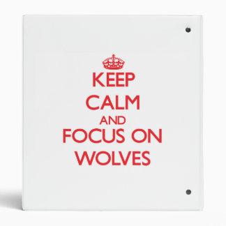 Guarde la calma y el foco en lobos