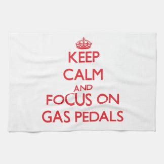 Guarde la calma y el foco en los aceleradores toallas