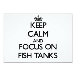 Guarde la calma y el foco en los acuarios comunicados