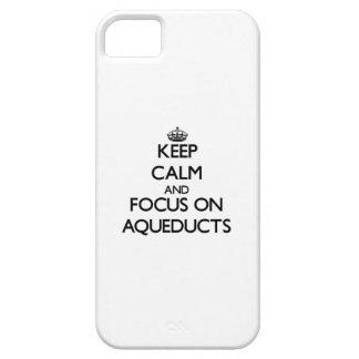 Guarde la calma y el foco en los acueductos iPhone 5 carcasas