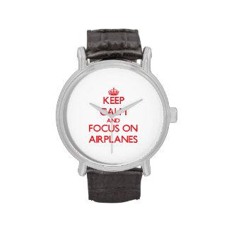 Guarde la calma y el foco en los AEROPLANOS Relojes De Mano