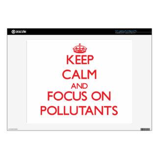 Guarde la calma y el foco en los agentes contamina skins para portátil