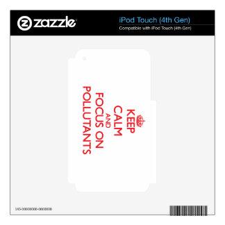 Guarde la calma y el foco en los agentes contamina skins para iPod touch 4G