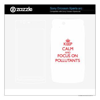 Guarde la calma y el foco en los agentes contamina