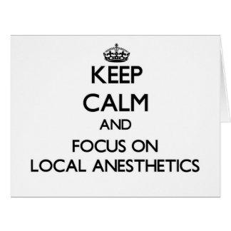 Guarde la calma y el foco en los anestésicos tarjeta de felicitación grande