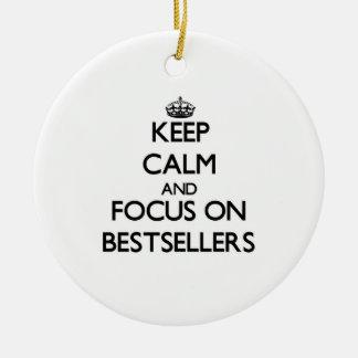 Guarde la calma y el foco en los bestsellers ornatos