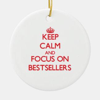 Guarde la calma y el foco en los bestsellers ornamentos para reyes magos