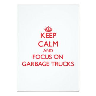 """Guarde la calma y el foco en los camiones de invitación 5"""" x 7"""""""
