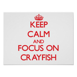 Guarde la calma y el foco en los cangrejos impresiones