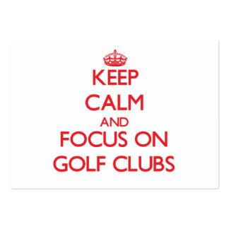 Guarde la calma y el foco en los clubs de golf tarjeta de visita