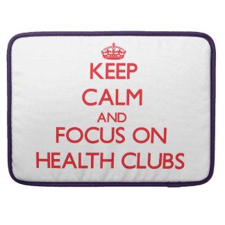 Guarde la calma y el foco en los clubs de salud funda macbook pro