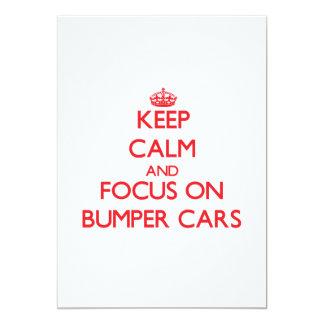 Guarde la calma y el foco en los coches de anuncios personalizados
