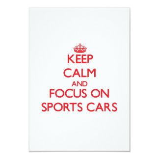 Guarde la calma y el foco en los coches de invitación 8,9 x 12,7 cm