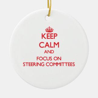 Guarde la calma y el foco en los comités de direcc ornamentos de navidad