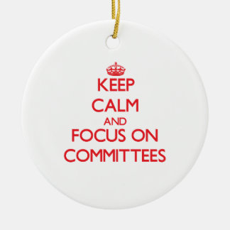 Guarde la calma y el foco en los comités ornamentos para reyes magos