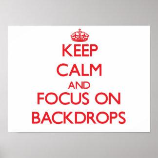 Guarde la calma y el foco en los contextos poster