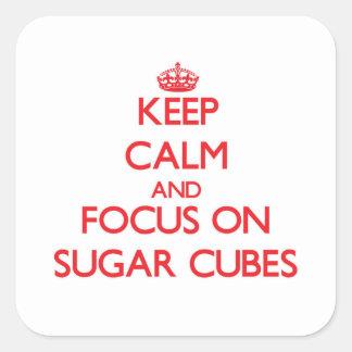 Guarde la calma y el foco en los cubos del azúcar