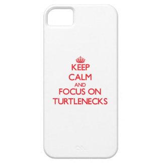 Guarde la calma y el foco en los cuellos altos iPhone 5 Case-Mate protectores