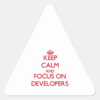 Guarde la calma y el foco en los desarrolladores