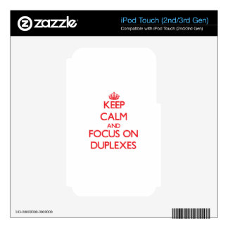 Guarde la calma y el foco en los duplex iPod touch 3G skins