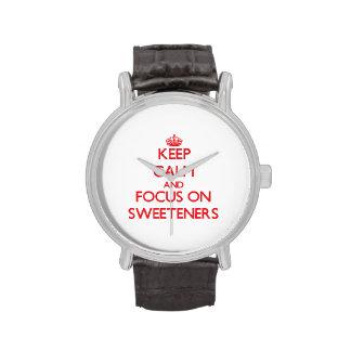 Guarde la calma y el foco en los edulcorantes reloj