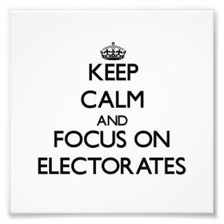 Guarde la calma y el foco en los ELECTORADOS Cojinete