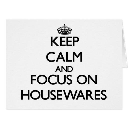 Guarde la calma y el foco en los electrodomésticos tarjetón
