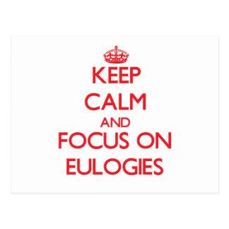 Guarde la calma y el foco en los ELOGIOS Tarjetas Postales