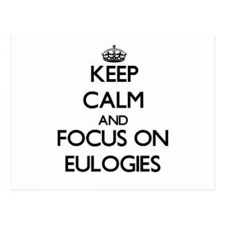 Guarde la calma y el foco en los ELOGIOS Postal