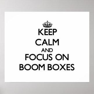 Guarde la calma y el foco en los equipos estéreos  posters