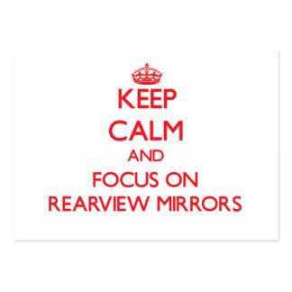 Guarde la calma y el foco en los espejos retroviso