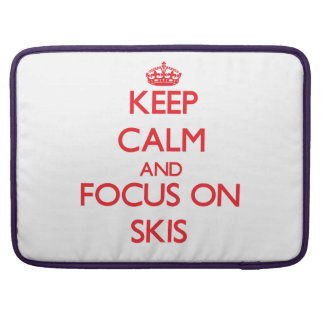 Guarde la calma y el foco en los esquís funda para macbook pro